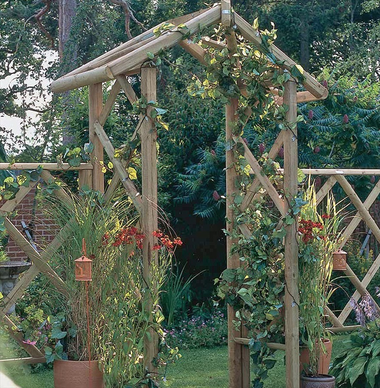 the forest rose arch is a sturdy wooden garden arch. Black Bedroom Furniture Sets. Home Design Ideas