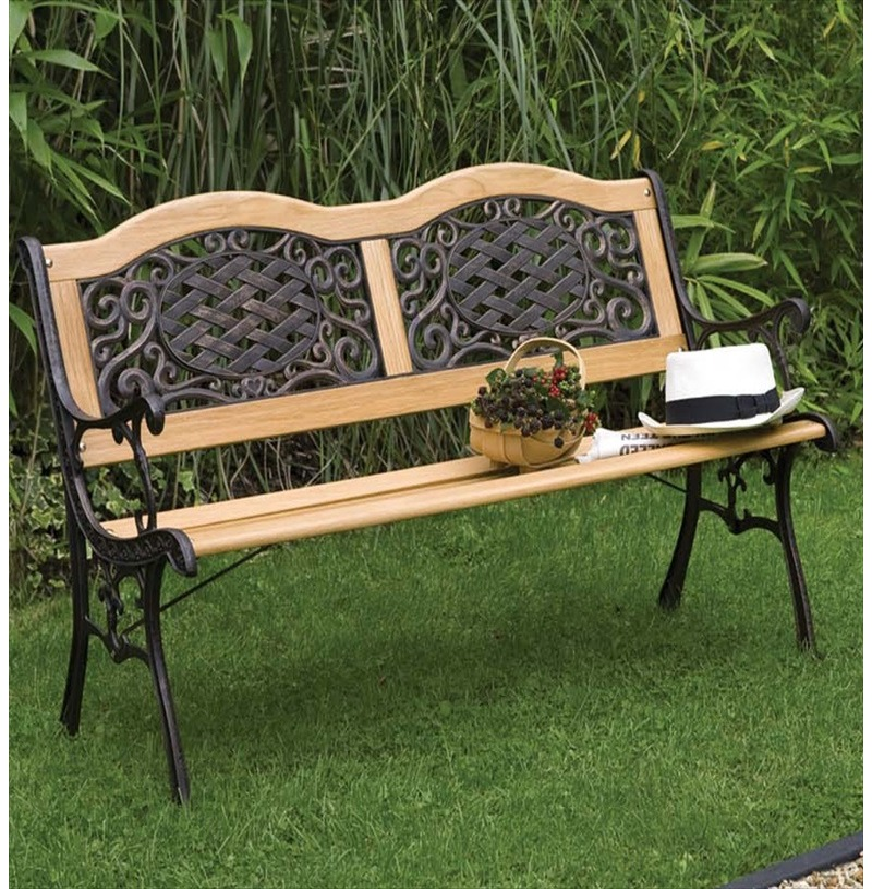Mississippi Bench Garden Furniture Wood Metal Resin
