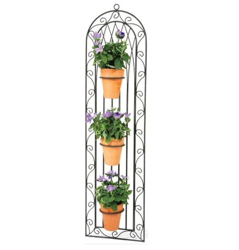 Bon Fiori Wall Trellis Triple Pot Holders The Garden Factory