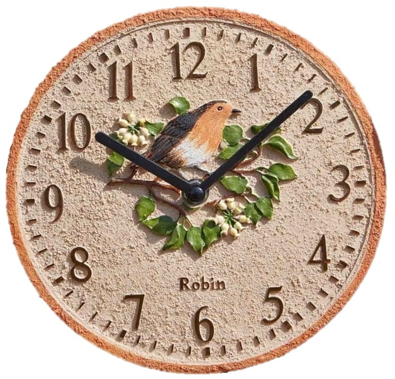 garden outdoor clocks robin the garden factory. Black Bedroom Furniture Sets. Home Design Ideas