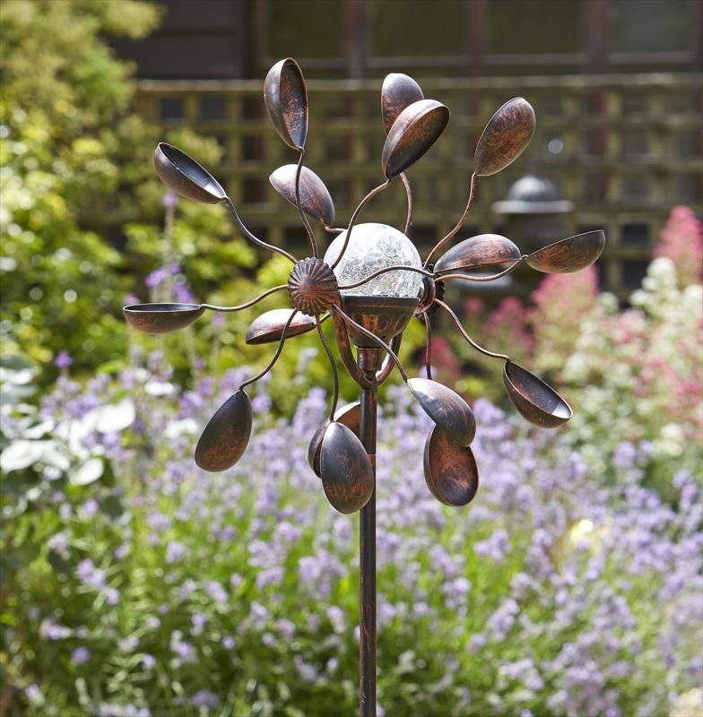Solar Wind Spinner Garden Art The, Wind Spinners For Garden