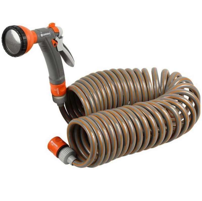 spiral hose kit 10m with fittings the garden factory. Black Bedroom Furniture Sets. Home Design Ideas