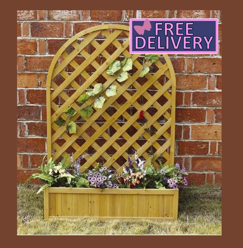 Charles Bentley Wood Planter Trellis The Garden Factory