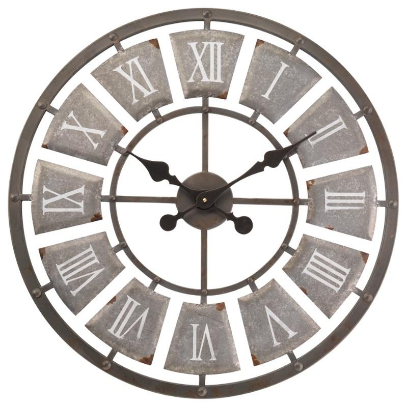 Gentil Lincoln Skeleton Garden Outside Wall Clock   Large 62cm   Indoor Or Outdoor  Clock