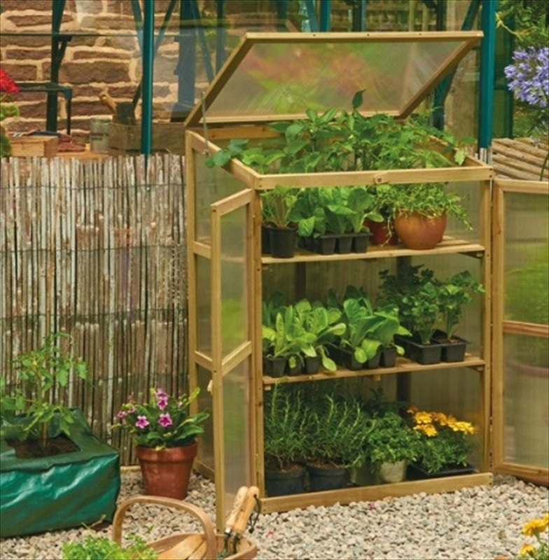 Tall Wooden Growhouse Cold Frame - The Garden Factory