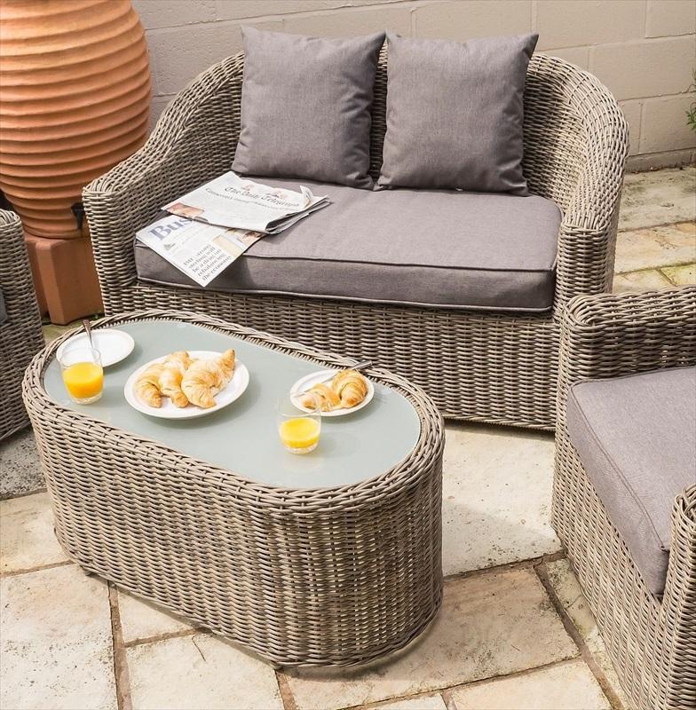 Bunbury Rattan 4 Pce Sofa Chair Set The Garden Factory
