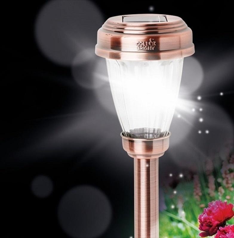 Copper Marker Solar Light The Garden Factory