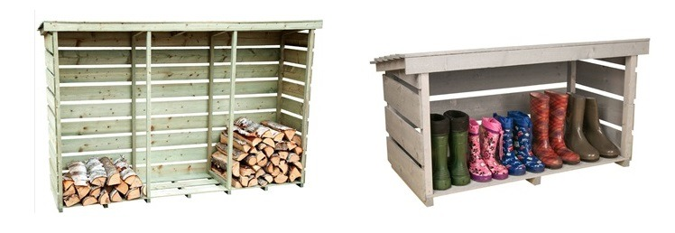 Outdoor Garden Storage & Log Store Sheds