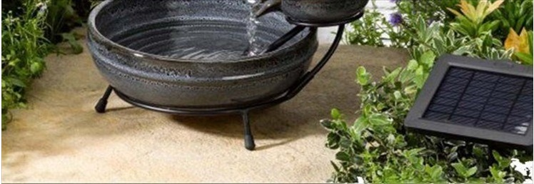 Solar Power Water Features