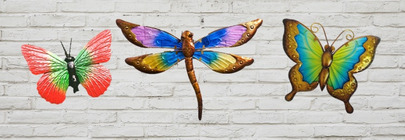 Butterfly & Dragonfly Wall Art