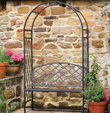 Tom Chambers Lattice Steel Garden Arch & Arbour
