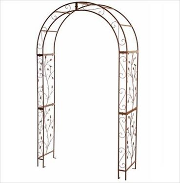 Woodland Metal Garden Rose Arch - Antique Brown Finish
