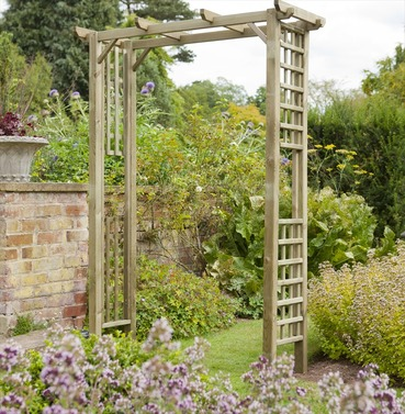 Berkeley Wooden Garden Arch by Forest Garden