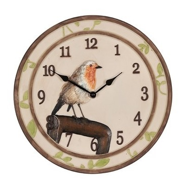 Stoneleigh Outdoor Garden Clock - Robin Bird Design