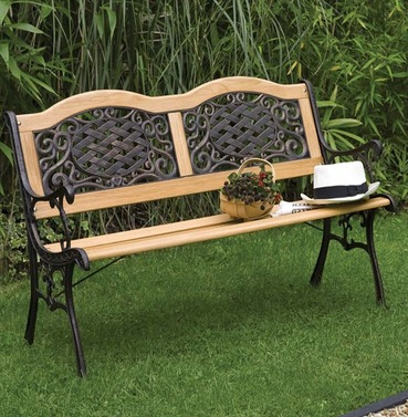 Mississippi Bench - Garden Furniture Wood , Metal & Resin