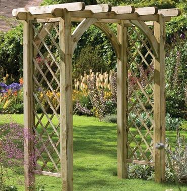 Ultima Wooden Pergola Garden Arch
