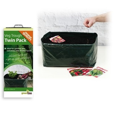 Vegetable Trough Bag Planters x 2 Reusable