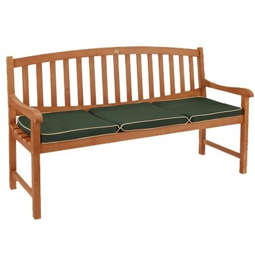 Garden 3 Seater Bench Cushion Green