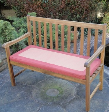 Garden 2 Seater Bench Cushion - Terracotta