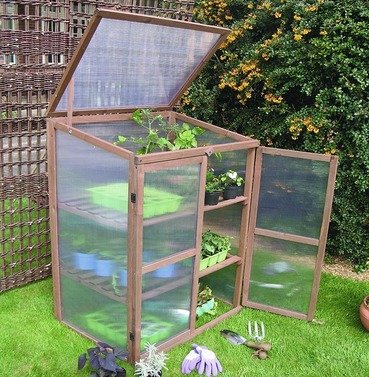 Tall Wooden Growhouse Cold Frame - from Botanico