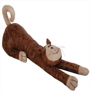 Cat Faux Leather Suede Animal Draught Excluder