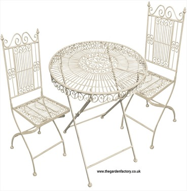 Old Rectory Tea for Two Garden Furniture Set - Antique Cream