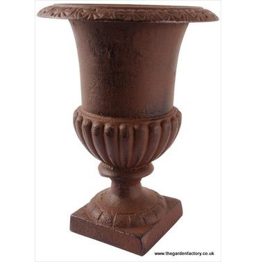 French Cast Iron Garden Urn - Rust