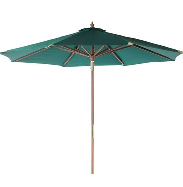Hardwood 2.5m Garden Parasol in GREEN