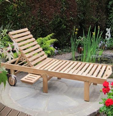 Teak Atlanta Folding Garden Lounger by Rondeau