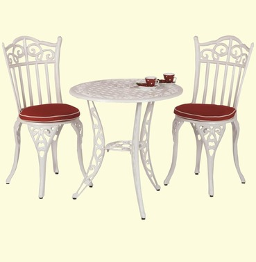 Tuscany Garden Bistro Set - With Seat Pads