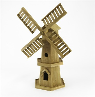 Decorative Wooden Garden Windmill