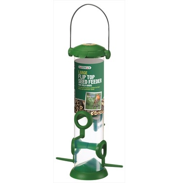 Flip Top Wild bird Seed Feeder - Large