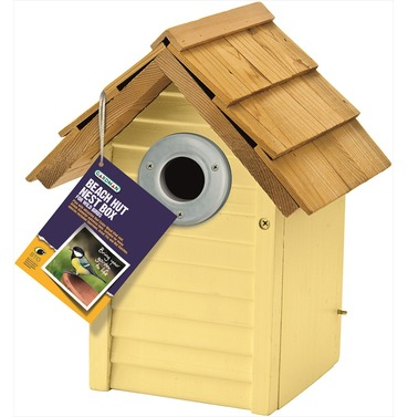 Beach Hut Nest Box in Cream by Gardman