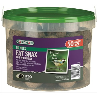 Suet balls - 50 tub with no nets - from Gardman