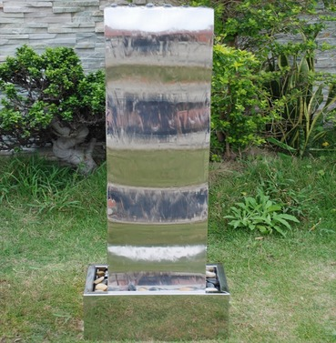 Wave Cascade Stainless Steel Water Feature - Large or Small