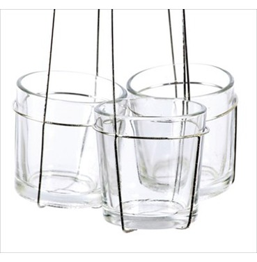 Clutch Tea Light candle Holder Triple 45cm - D/L