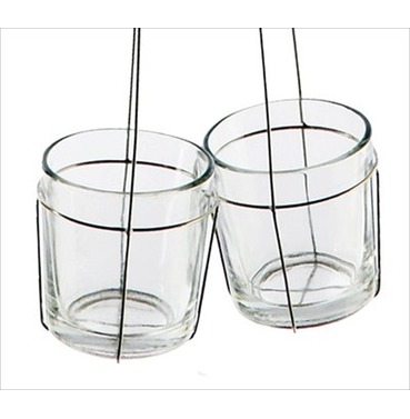 Clutch Tea Light candle Holder - Double 45cm D/L