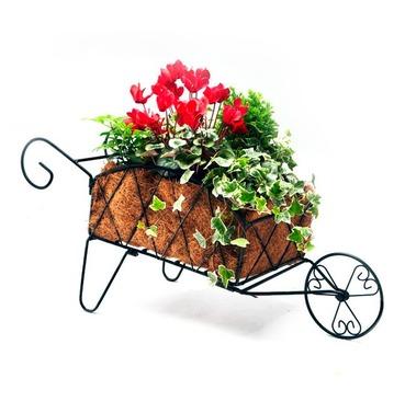 Decorative Metal Wheelbarrow Planter