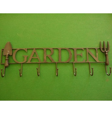 Garden Wall Decoration Coat Hook or Tools Hook Sign - Cast Metal - Fine Detail
