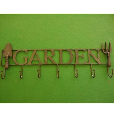 Garden Wall Decoration Coat Hook or Tools Hook Sign - Cast Metal - Fine Detail