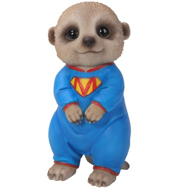 Meerkat Baby Pet Pal Standing Garden Ornament