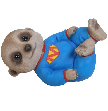 Meerkat Baby Pet Pal Laying Down Garden Ornament