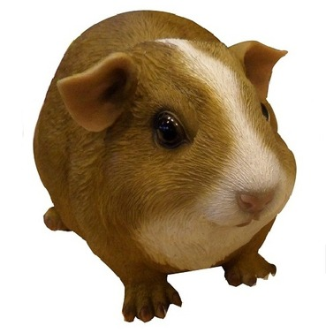 Guinea Pig Pet Pal Garden Ornament - Brown with White Noise