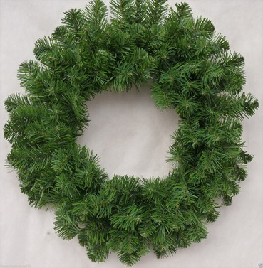 Christmas Imperial Artificial Wreath 50cm - Large Plain Bushy