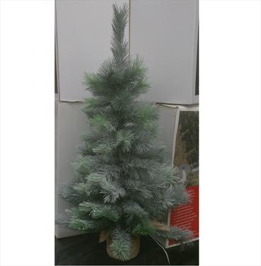 Mini Christmas Tree Snowy Vancouver 75cm Jute Bag Base