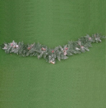 Christmas Sherwood Frosted Garland Swag 180cm - Cones & Berries