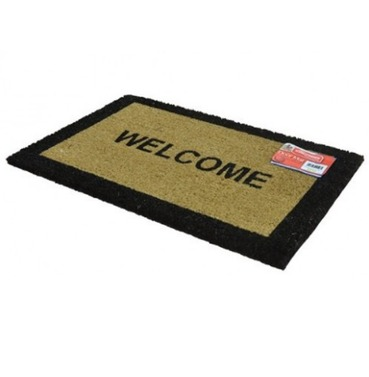Welcome Entrance Floor Door Mat - Natural Coir
