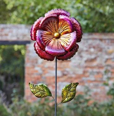 Garden Flower Art - Vibrant Violet Bloom - Giant Decorative Flower
