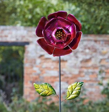 Garden Flower Art - Ruby Red Bloom - Giant Decorative Flower