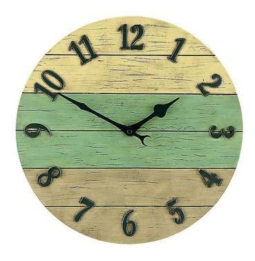 Driftwood Style Garden Outside Clock 36cm